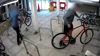video: Watch: NHS workers' bikes stolen by suspected thieves