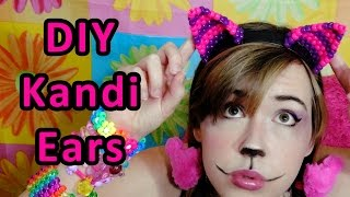 Kandi Cat Ears Tutorial