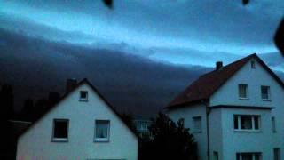 preview picture of video 'Ein Sturm kommt auf in Viernheim'