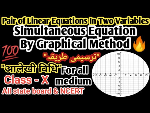 Pair of linear equation in two variables or Simultaneous equation by Graphical Method