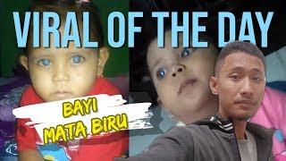 VIRAL HARI INI: Video Seorang Bayi Perempuan di Bekasi Memiliki Bola Mata Warna Biru