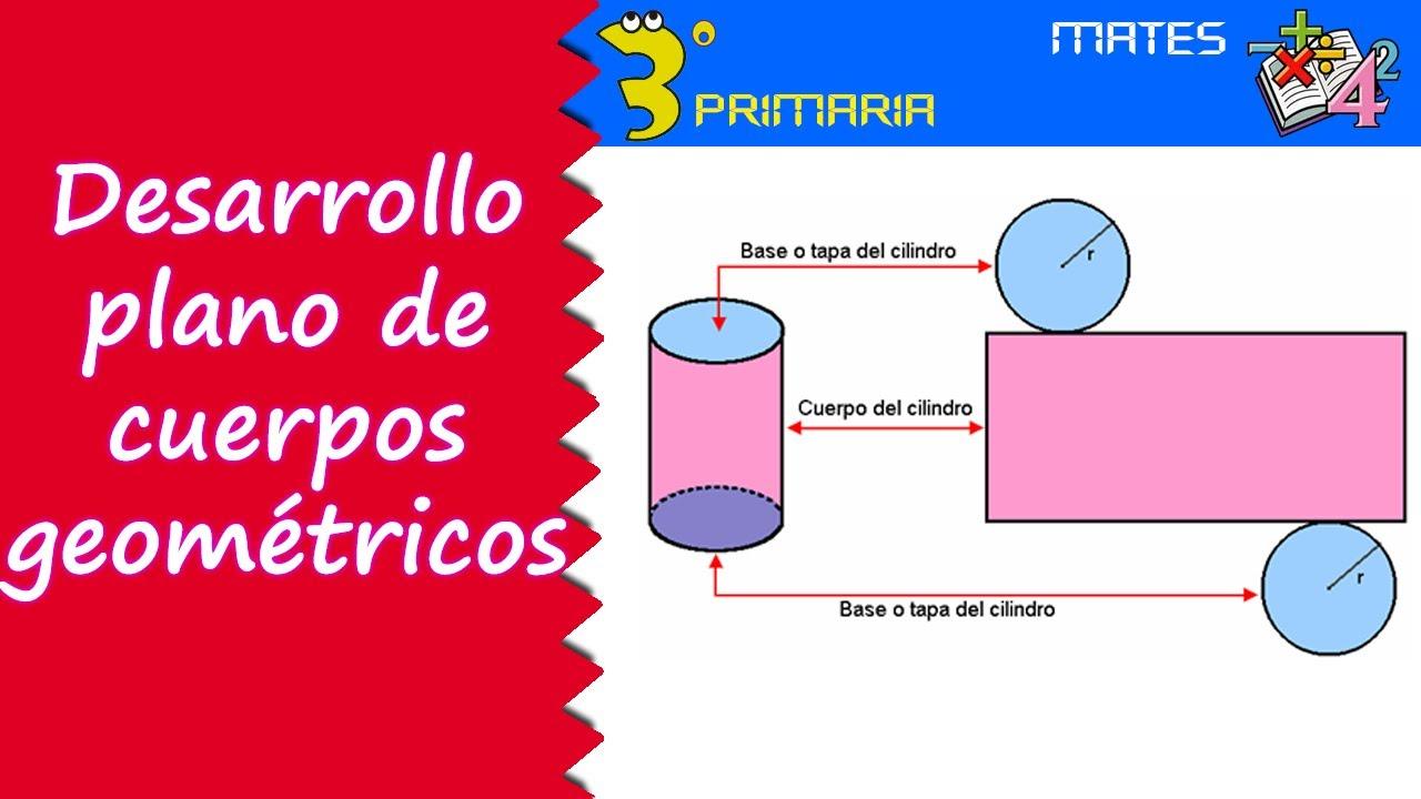 Matemáticas. 3º Primaria. Tema 4. Desarrollo plano de cuerpos geométricos