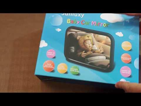 Espejo retrovisor Sunluxy para controlar al bebe. Panoramico para MaxiCosi