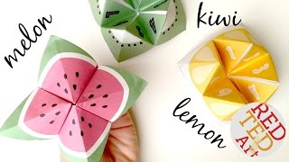How to Make a Paper Fortune Teller - Easy Origami - Melon DIYs