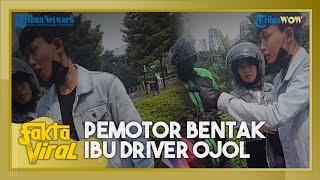 Viral Video Pengendara Motor Bentak Ibu Driver Ojol karena Terkena Cipratan Air, Akhirnya Minta Maaf