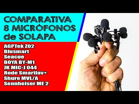 COMPARATIVA 8 MICROFONOS de SOLAPA