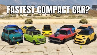 GTA V Online: Which Is Fastest Compact Cars | 1/4  DRAG RACE