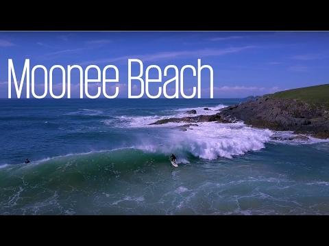 Drone shots of Moonee Beach