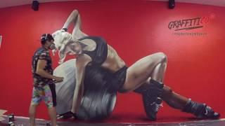 Художественное оформление фитнес зала Территория Спорта