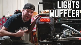 Golf Cart Pt. 4 | Muffler Hack, Lights, Body Mounted!