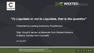 to liquidate or not