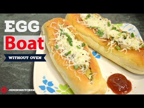 Egg Boat (Without oven) | Easy Snack Recipes | Jemini's Kitchen