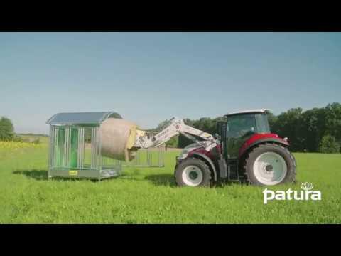PATURA Profi-Viereckraufe mit Sicherheits-Pferdefressgitter