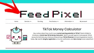 How to use Tiktok Money Calculator on FeedPixel
