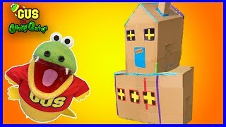 BOX FORT CHALLENGE! Build a Giant Mansion and Play Tag Kids Game
