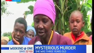 A family from Lower Gatanga-Muranga County mourns the mysterious murder of their 3-year-old child