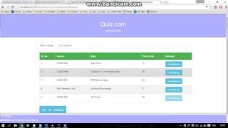 Online Quiz Administration .... Spring MVC