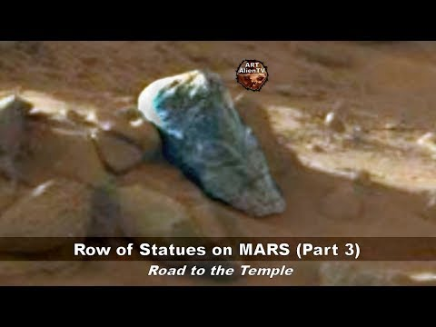 Row of Statues on MARS (Part 3) Road to the Temple - ArtAlienTV