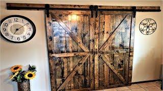 DIY Double Sliding Barn Doors