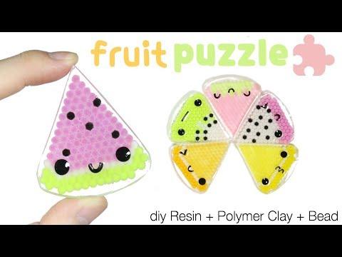How to DIY Kawaii/Cute Fruit Slice Puzzle Resin Tutorial