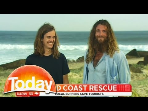 Two Australian Surfies Give Hillarious Interview After Saving Tourists.