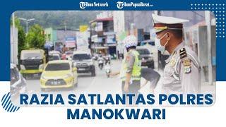 Polres Manokwari Gelar Razia, Amankan Kendaraan Dinas yang Pelat Nomornya Diubah Jadi Nopol Pribadi