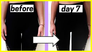 How I Created a THIGH GAP in ONE WEEK *fast results*