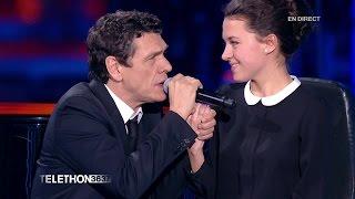 """Marc Lavoine chante """"Elle a les yeux revolver"""" au téléthon 2015 - 04/12/2015"""