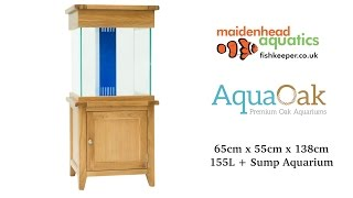 Aqua Oak 'Large Cube' Systemised Aquarium (AQ65CS)