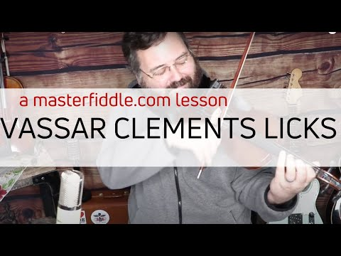 Vassar Clements Bluegrass Fiddle Licks in G - Lesson Preview
