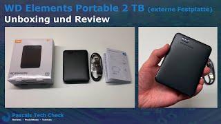 WD Elements Portable 2 TB mit USB 3.0 ||  Unboxing und Review (externe Festplatte)