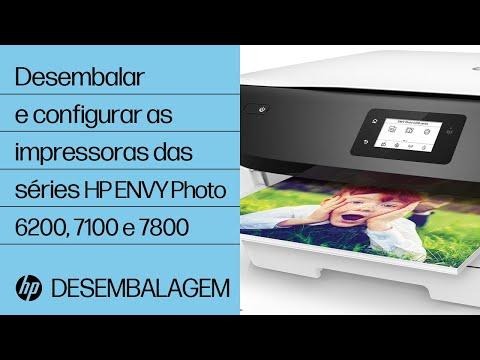 Desembalar e configurar as impressoras das séries HP ENVY Photo 6200, 7100 e 7800