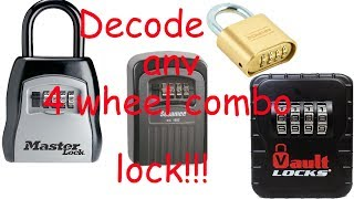 (345) How to Open ANY 4 Wheel Combination Lock