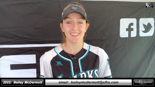 2022 Bailey McDermott Lefty First Base and Outfield Softball Skills Video - SJ Lady Sharks