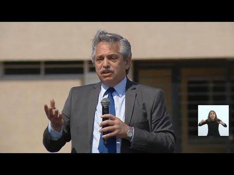 """Alberto Fernández: """"Tener un techo es un derecho que hace a la condición humana"""""""