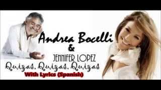 """Andrea Bocelli & J Lopez """"Quizás, quizás, quizás"""""""