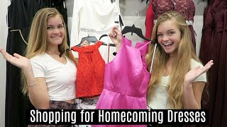 Shopping for Homecoming Dresses ~ HOCO 2019 ~ Jacy and Kacy