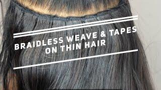 Thin Hair LA Weave Demo (#houseofhairuk)