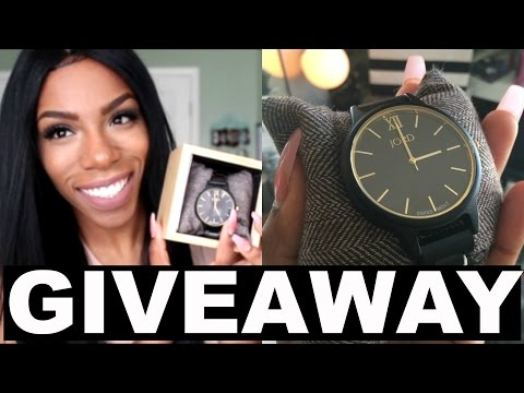 GIVEAWAY!! + Review and Unboxing JORD WOOD WATCH!