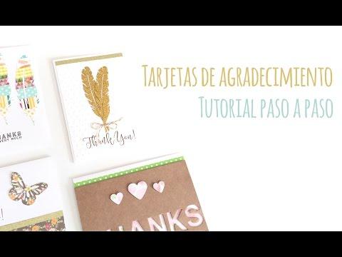 Tarjetas de agradecimiento - TUTORIAL Scrapbook