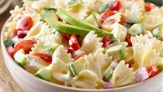 Potluck Pasta Salad Recipe   How to Make Deli-Style Pasta Salad   Caprese Pasta Salad