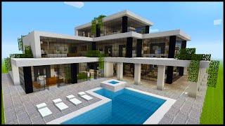 Minecraft: How To Build A Modern Mansion | PART 4 (Interior 2/3)