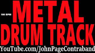 Double Bass Metal Drum Track 100 bpm FREE