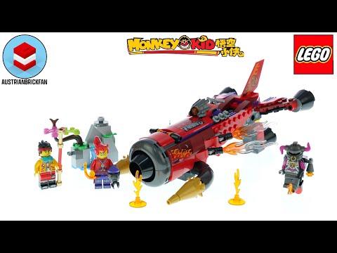 Vidéo LEGO Monkie Kid 80019 : Le jet Inferno de Red Son