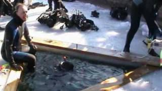 preview picture of video '20060212_Preddvor_Črnava_Ice Scuba Diving'