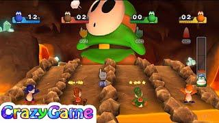 Mario Party 9 - Yoshi, Luigi vs Magikoopa, Shy Guy (Bob-omb Factory)