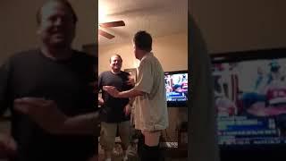 Dad Stripping Downstairs 1