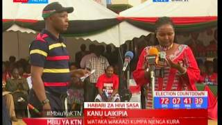Former Jubilee aspirant Naisula Lesuuda asks Kenyans to maintain peace during elections