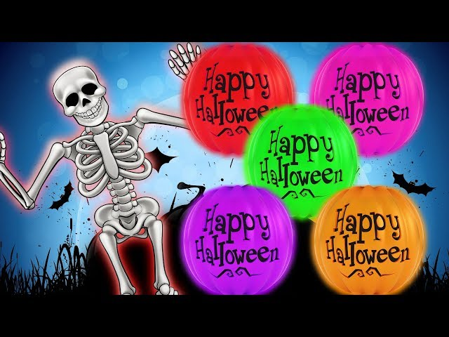 Halloween Pumpkin Rolling Teaching Colors For Kids by HooplaKidz