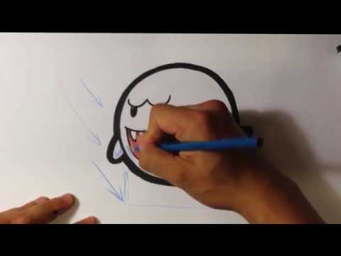 How To Draw A Boo Super Mario Bros Easy Drawings Learn To Draw